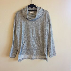 Gray Cowlneck Pullover